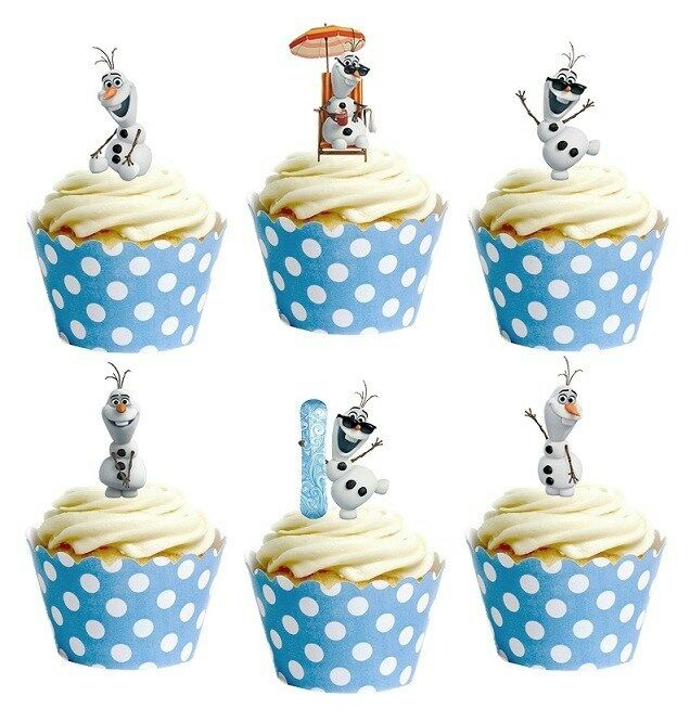 Edible Disney Cake Decorations Uk : 28x DISNEY FROZEN OLAF edible cup cake toppers decorations ...