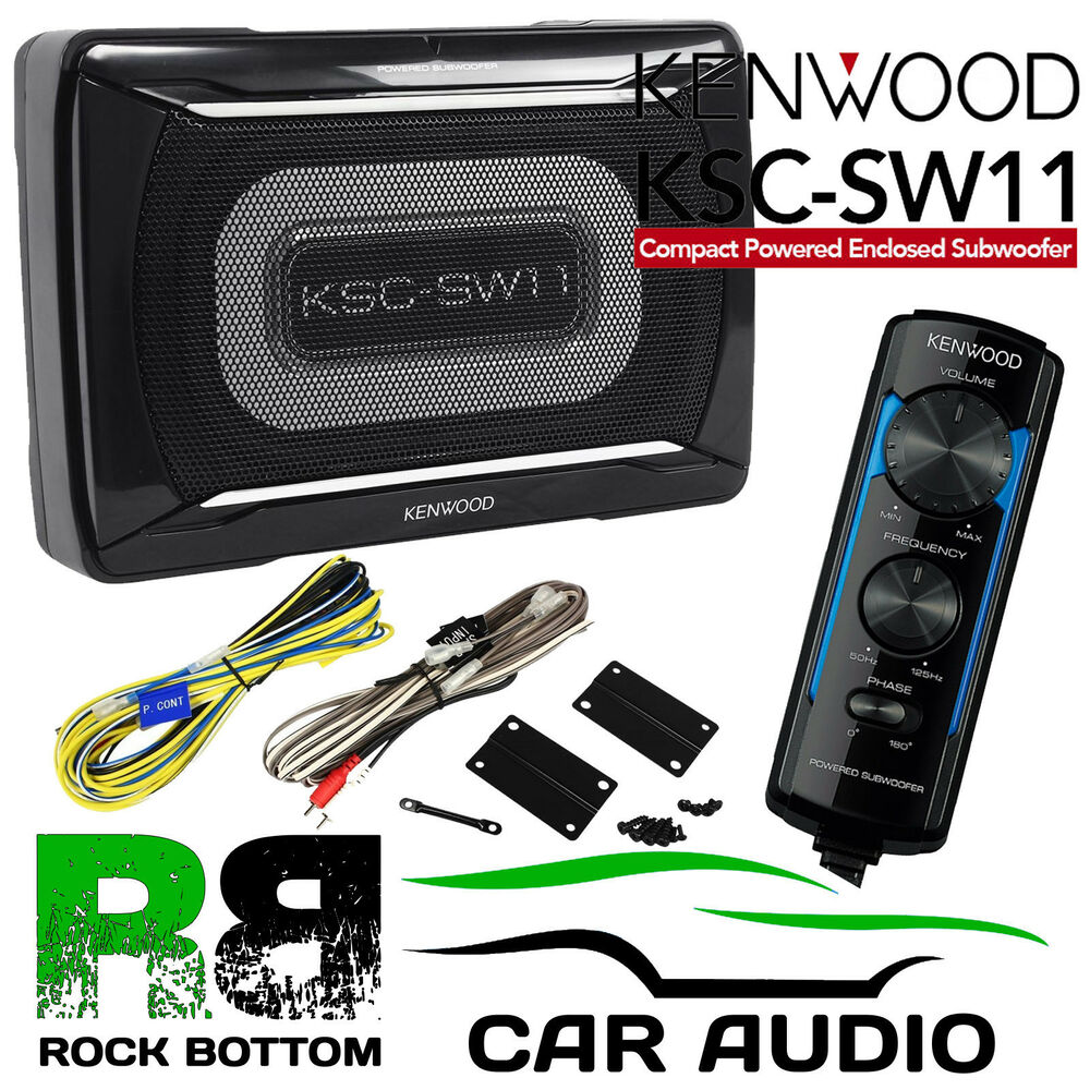 kenwood ksc sw11 150 watts active amplified underseat car. Black Bedroom Furniture Sets. Home Design Ideas