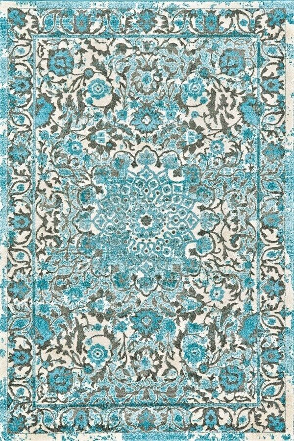 5x8 Modern Contemporary Transitional Blue Aqua Area Rug Ebay