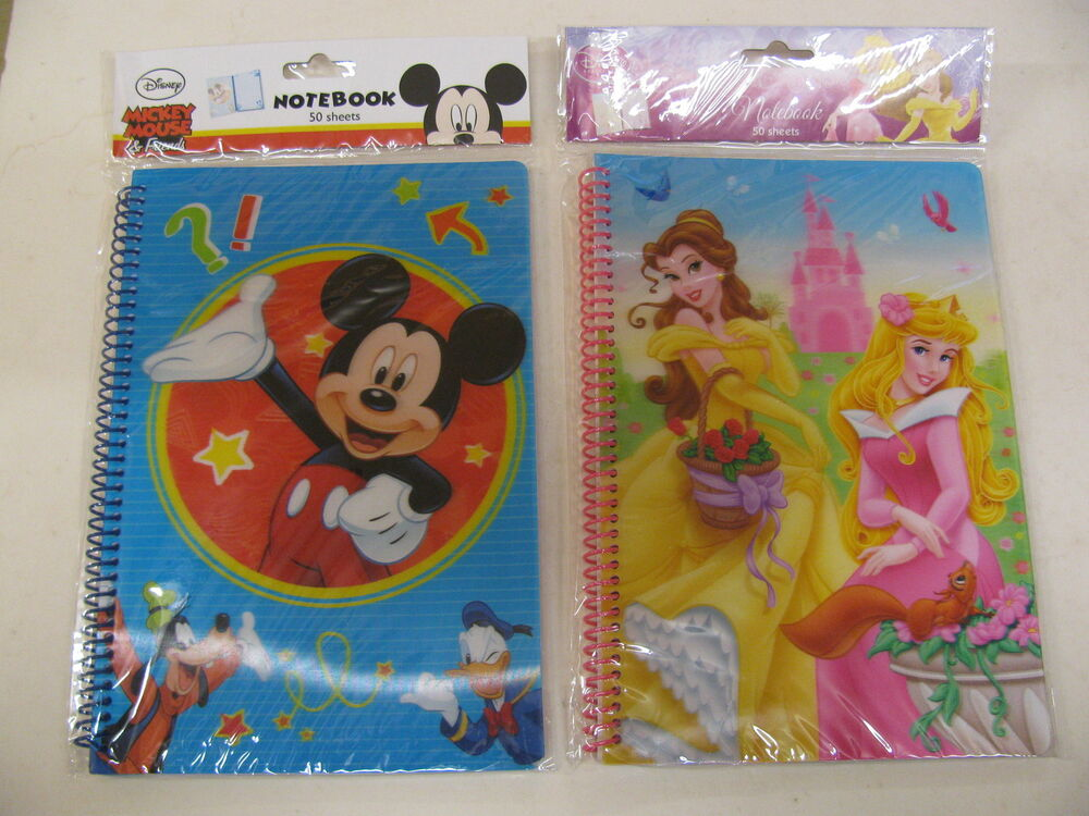 Children Note Book Cover : A ruled notebooks various disney holographic cover