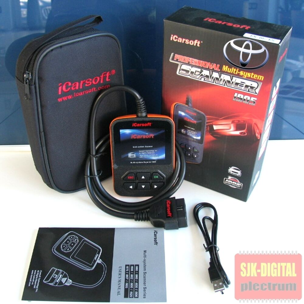 i905 obd2 icarsoft diagnoseger t f r toyota tiefendiagnose. Black Bedroom Furniture Sets. Home Design Ideas