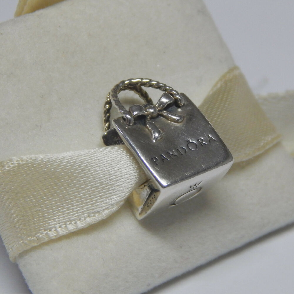 new authentic pandora charm 791184 shopping bag sterling