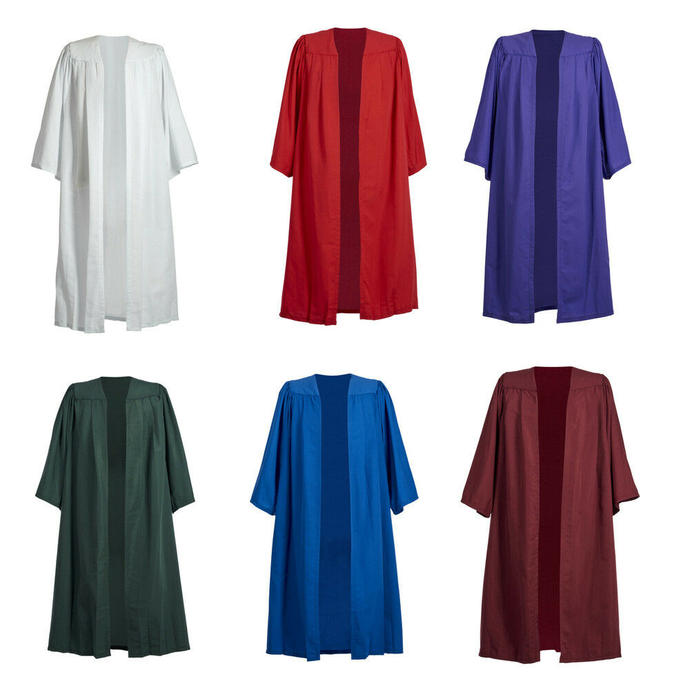 ef406b444b5 Details about Choir Robe Gown Ladies Mens Priest Preachers Church Graduation