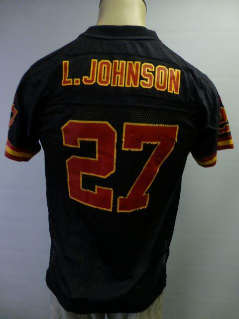 Details about youth Large 14-16 black NFL KANSAS CITY CHIEFS  27 Larry  Johnson FOOTBALL Jersey d278bf219