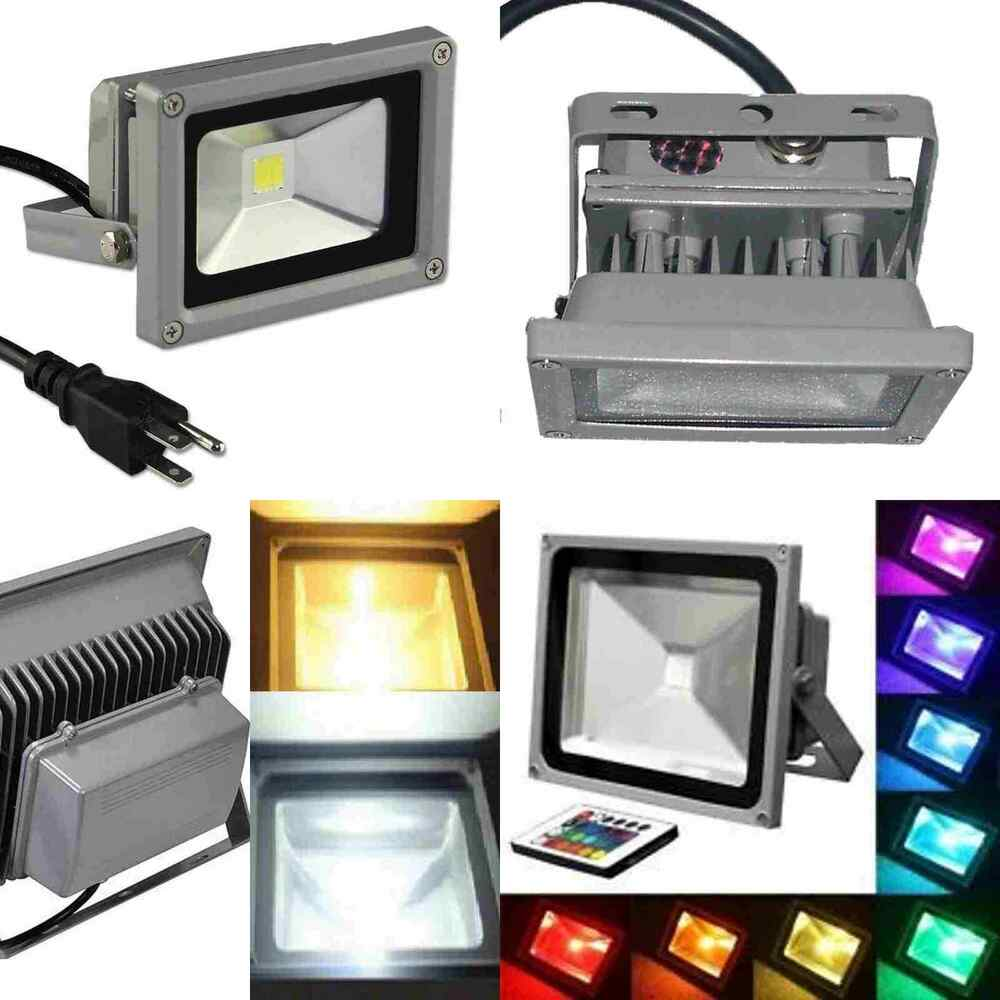 10W 20W 30W 50W 100W LED Flood Light Outdoor Landscape