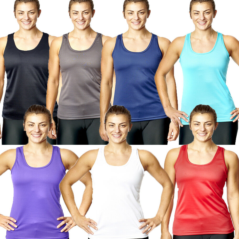 1770e3d45 Details about Womens Fitness Tank Top Running Vest Ladies Casual Gym  Sleeveless Sports Shirt
