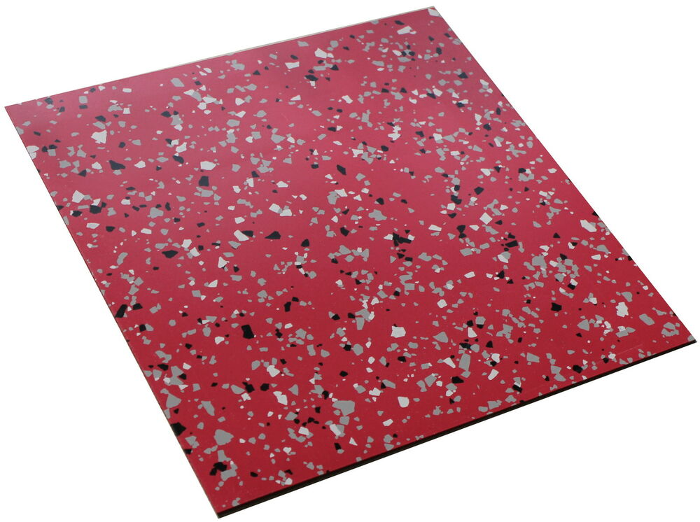 Fushchia red extra hard heavy duty terrazzo reinforced for Heavy duty vinyl flooring