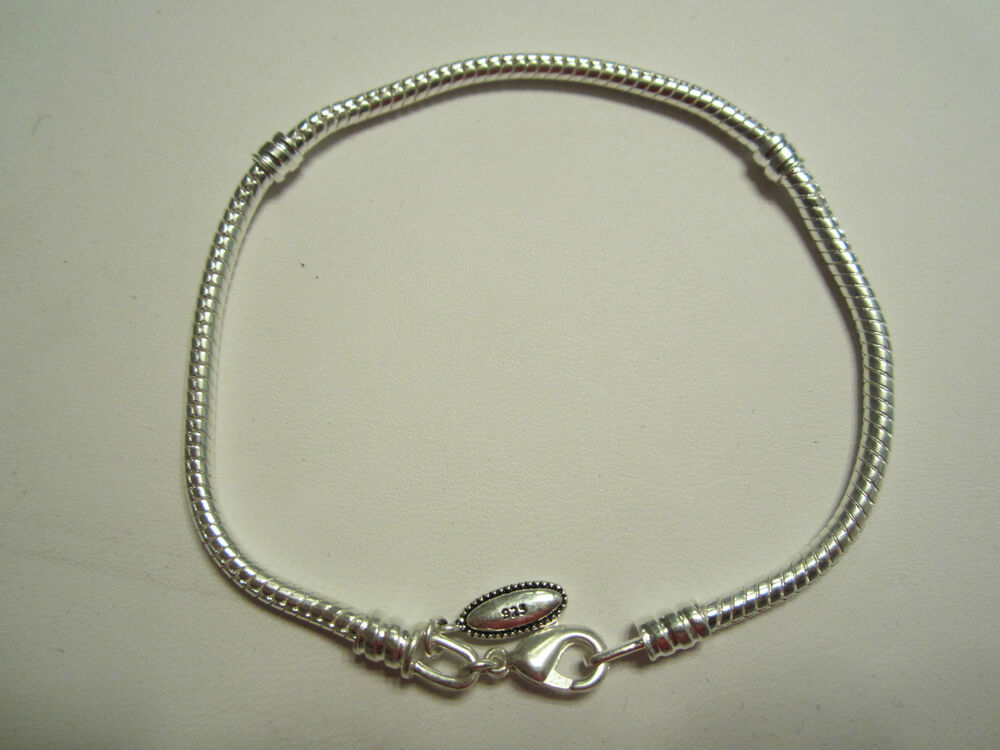 925 sterling silver european bead charm necklace 18