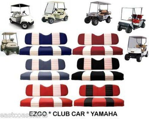 ezgo club car yamaha golf cart two tone seat cover sets ebay. Black Bedroom Furniture Sets. Home Design Ideas
