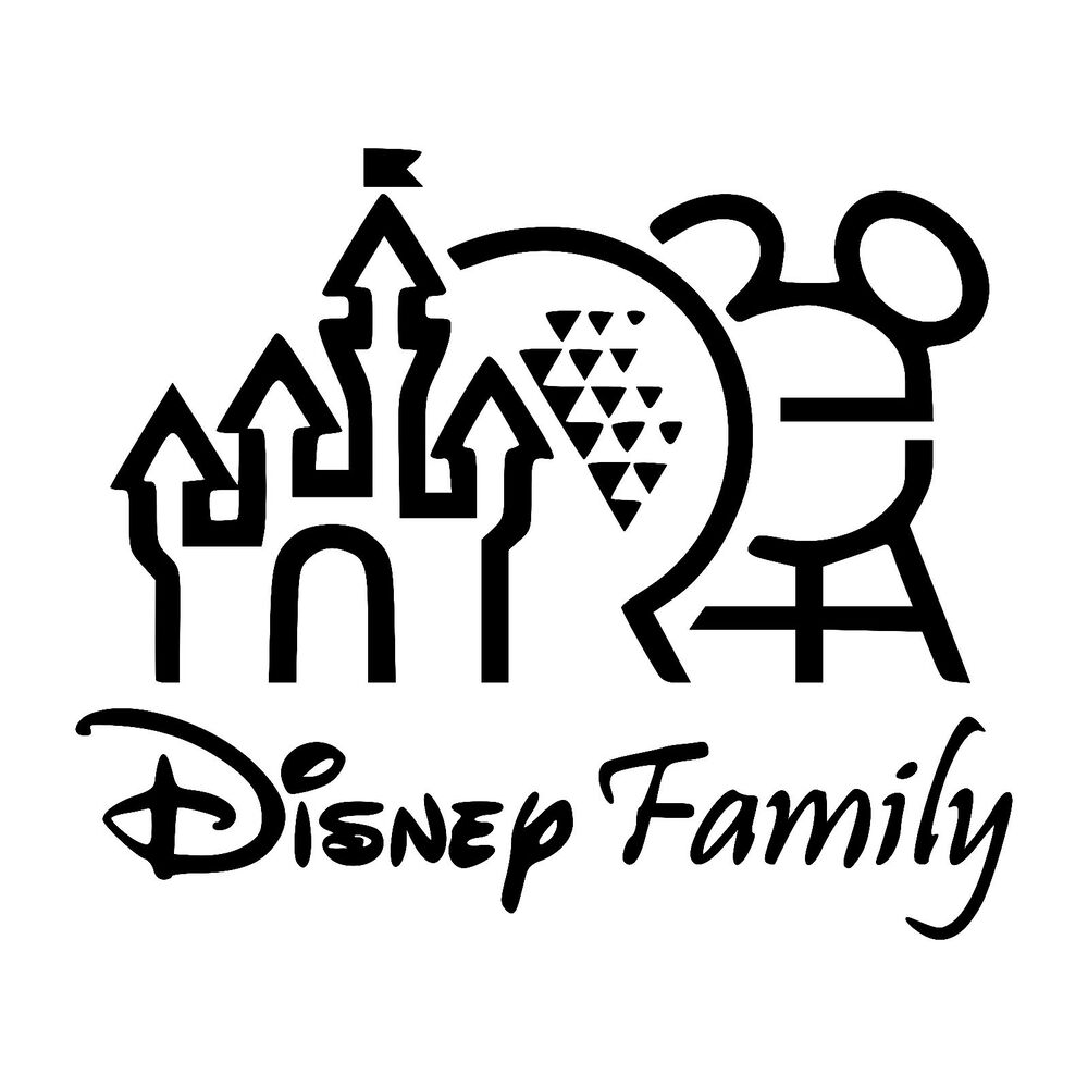 Disney Family Vinyl Car Decals Wall Art Stickers Made