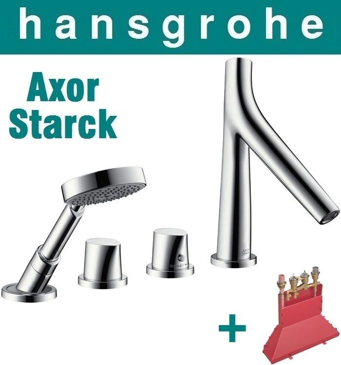 hansgrohe axor starck organic 12425000 4 hole thermostatic. Black Bedroom Furniture Sets. Home Design Ideas