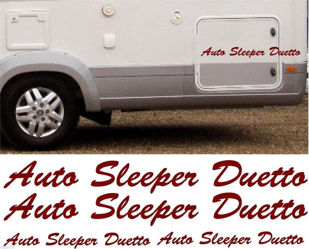 Auto Sleepers For Sale On Ebay: AUTO SLEEPER DUETTO 4 PIECE KIT DECALS STICKERS CHOICE OF