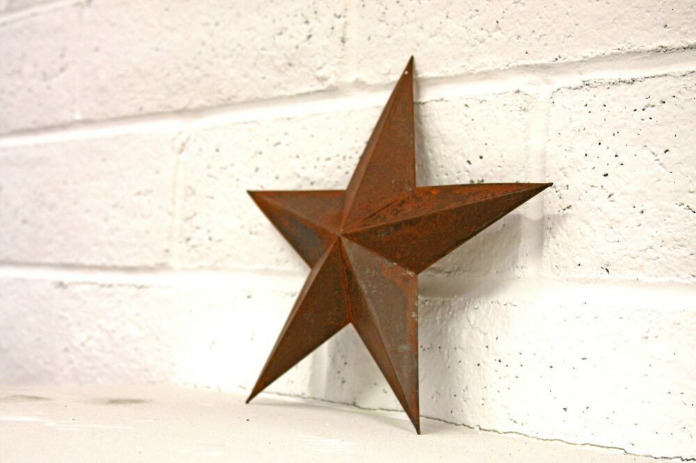Rustic barn star 12 rustic country style decor ebay for Barn star decorations home