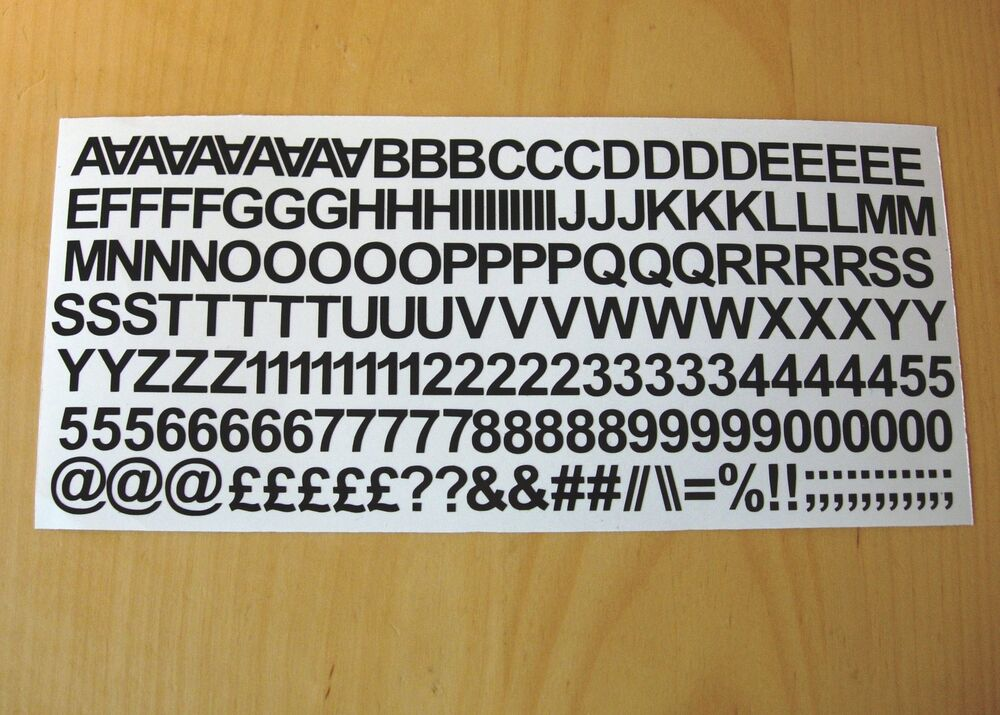 vinyl sticker letters 1cm 10mm self adhesive vinyl sticker letters and numbers 25444 | s l1000