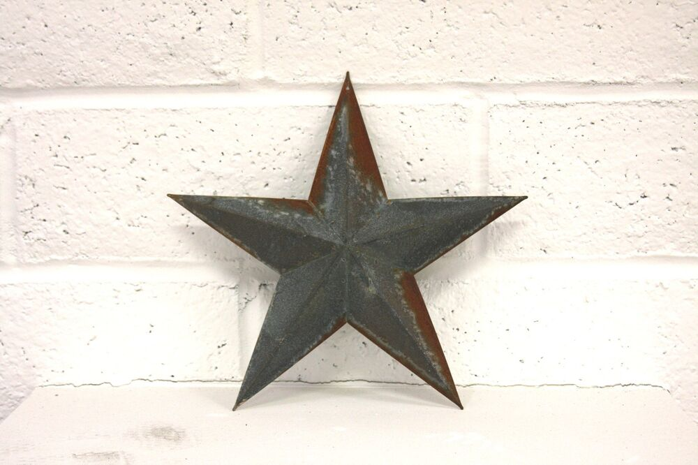 Barn star 12 two tone rustic country style decor ebay for Barn star decorations home