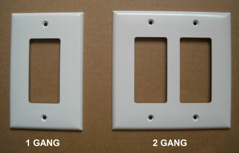 Mid Over Size Gfci Decora Switch Outlet Wall Cover Plate 1