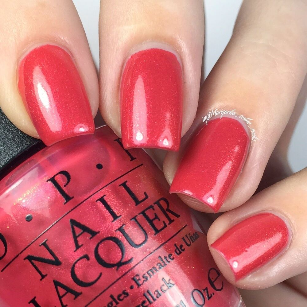 Opi Nail Lacquer Hawaii Collection Nl H69 Go With The Lava Flow Spring 2015 Ebay