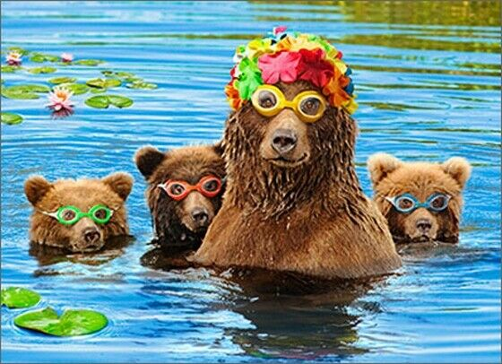 Mama Bear With Cubs Funny Mother S Day Card Greeting