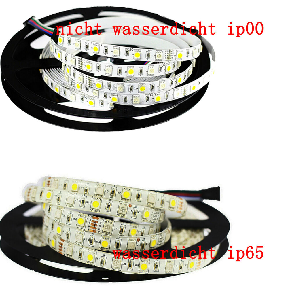 led streifen 12 volt led stripe rgb w rgbw kaltwei 5050 60 led 5 meter ebay. Black Bedroom Furniture Sets. Home Design Ideas