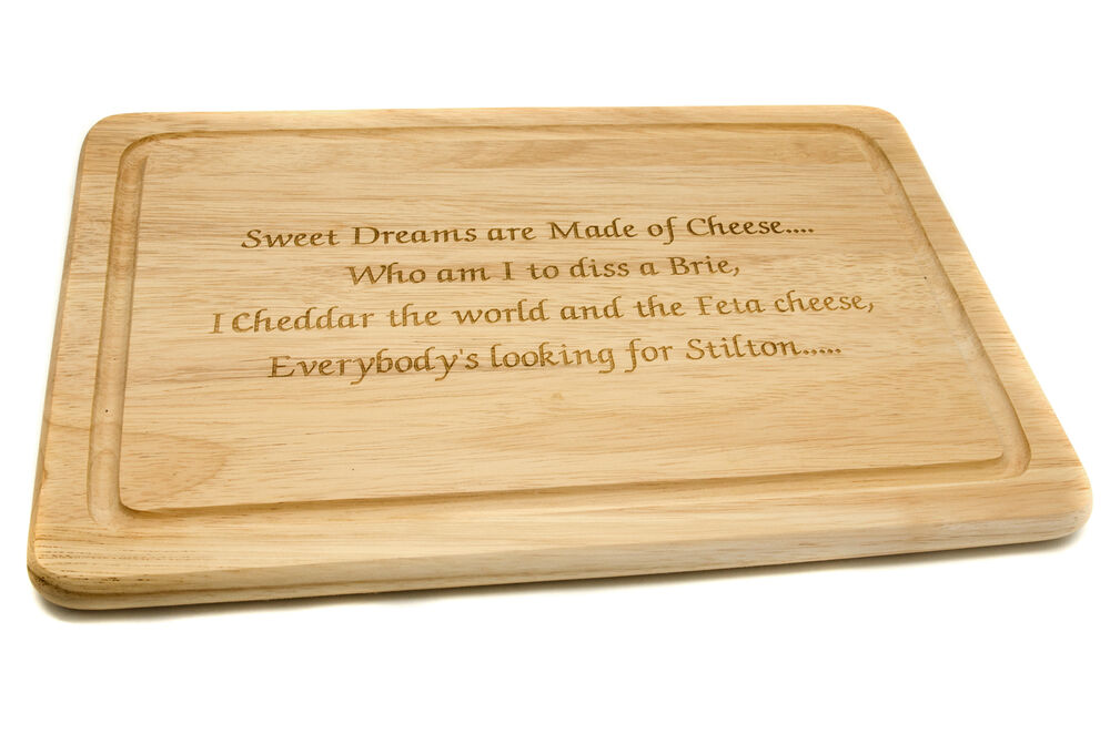 Personalised Birch Wood Cheese Or Chopping Board Any