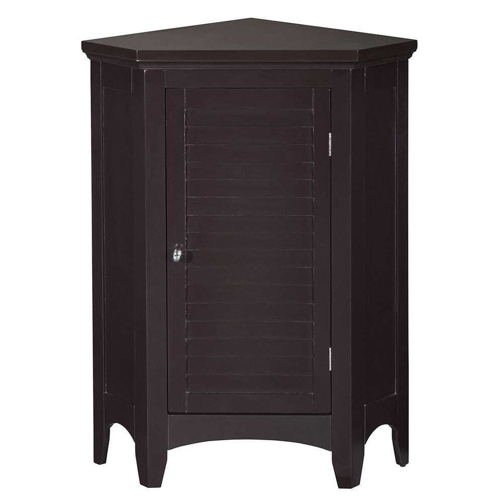 Slone corner floor cabinet with 1 shutter door for for 1 door cabinet