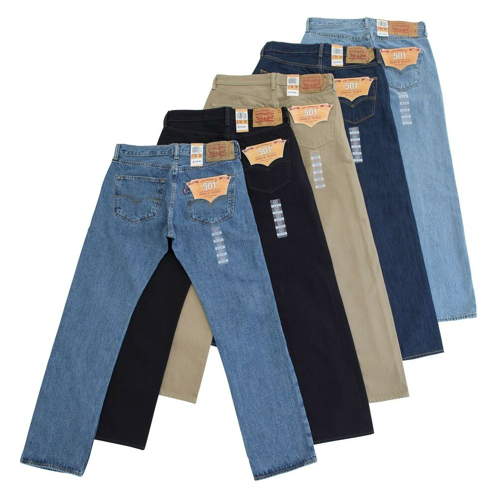 Mens Levis 501 Shrink To Fit Jeans