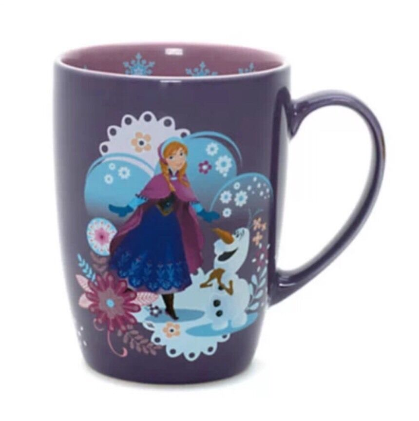 New Disney Store Frozen Anna And Olaf Purple Glitter