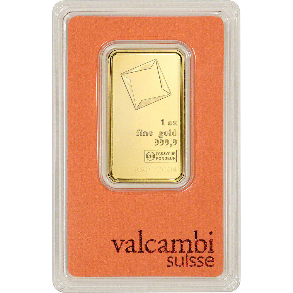 Ebay Bar: 1 Oz. Gold Bar - Valcambi Suisse - 999.9 Fine In Assay