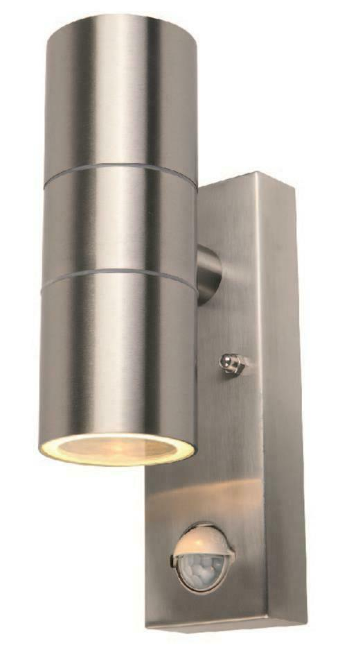 Stainless Steel Outdoor Up Down Light Pir Security Wall