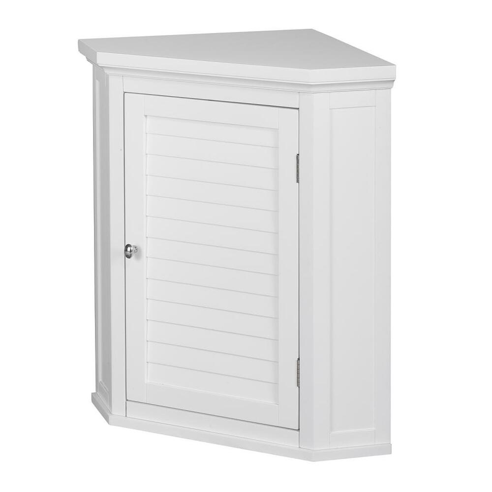 slone corner wall medicine cabinet w 1 shutter glass door for bathroom storage ebay. Black Bedroom Furniture Sets. Home Design Ideas