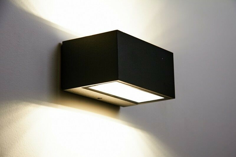 led garten au en haus wand lampe leuchte beleuchtung hof design up down strahler ebay. Black Bedroom Furniture Sets. Home Design Ideas