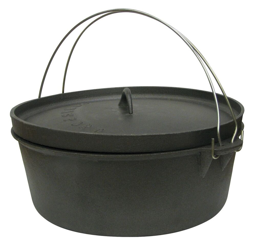 High Quality Stansport Cast Iron 4 Quart Dutch Oven