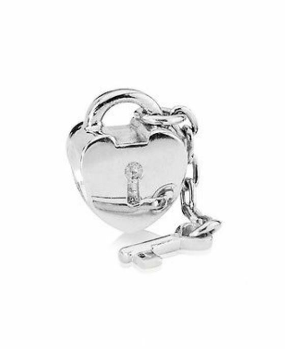 Pandora key to my heart bead 925 sterling silver ale auth 790971 with