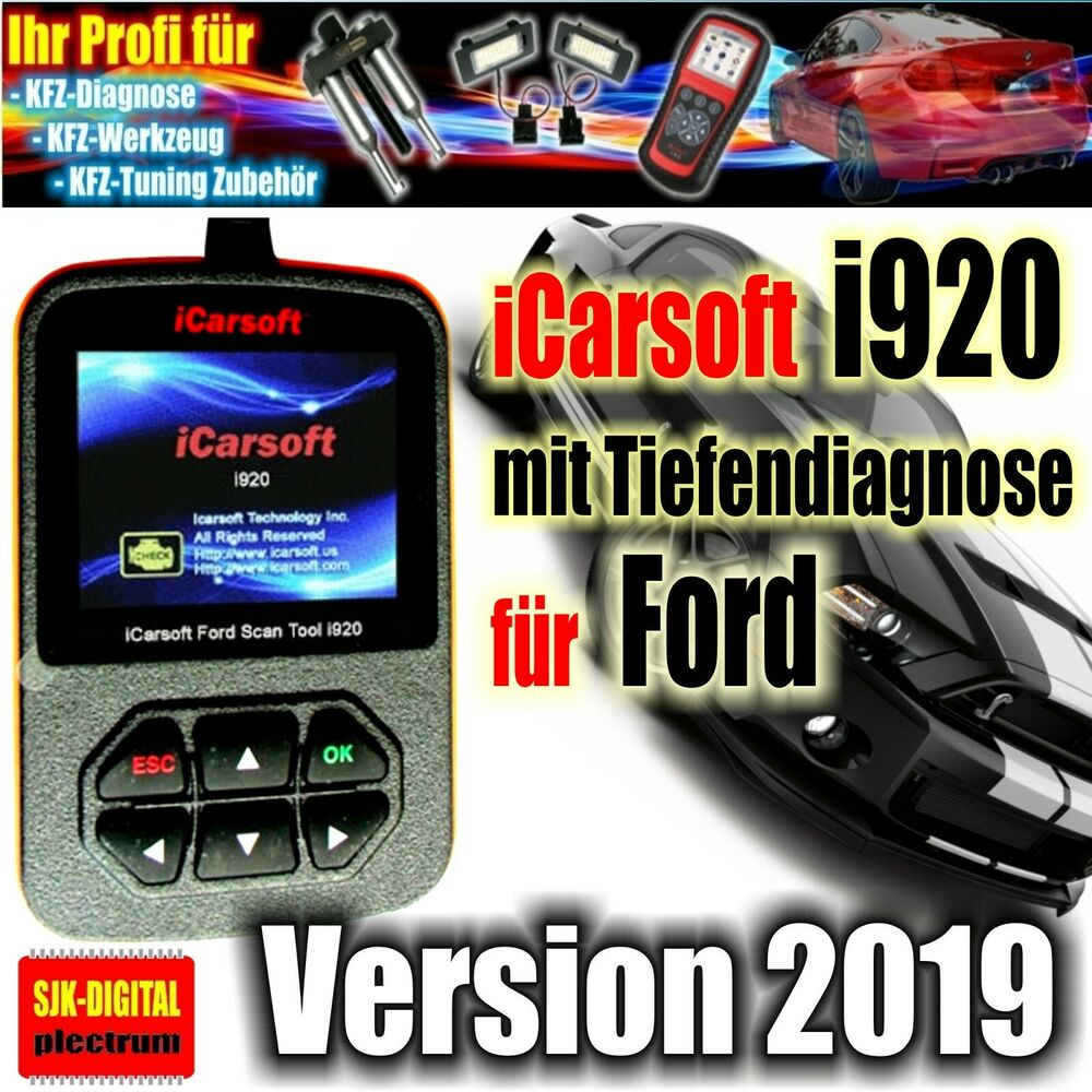 i920 icarsoft obd2 diagnoseger t f r ford tiefendiagnose abs airbag motor ebay. Black Bedroom Furniture Sets. Home Design Ideas