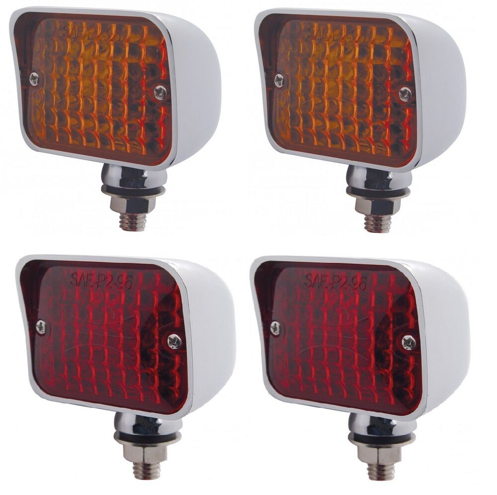 12 Volt Amber   Red Hot Rod Taillights