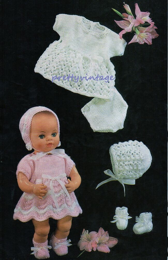 Tiny Tears Knitting Patterns : KNITTING PATTERN BABY DOLLS CLOTHES 12