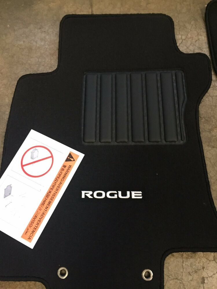 new oem nissan rogue 2008 2013 black carpet floor mats 4. Black Bedroom Furniture Sets. Home Design Ideas