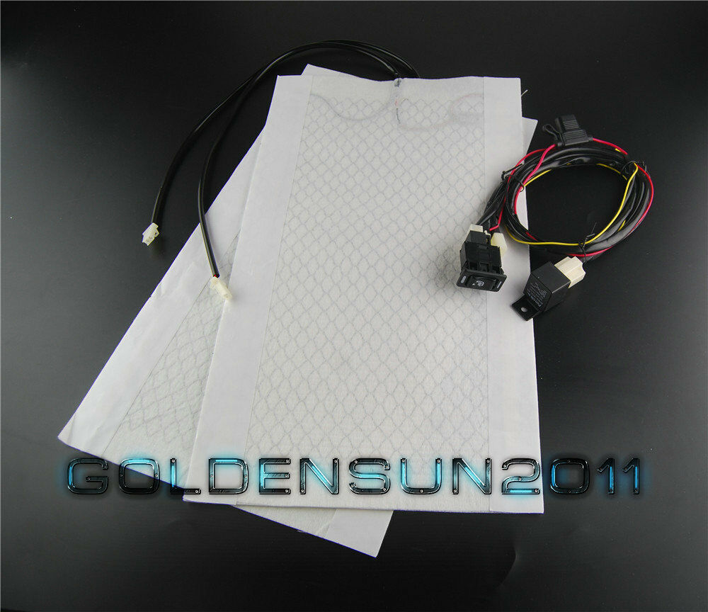 Universal Car Heated Seat Kit 2 Dial 5 Level Switch Seat: Car Heated Seat Pad,Rectangle Toyota Switch Auto Seat