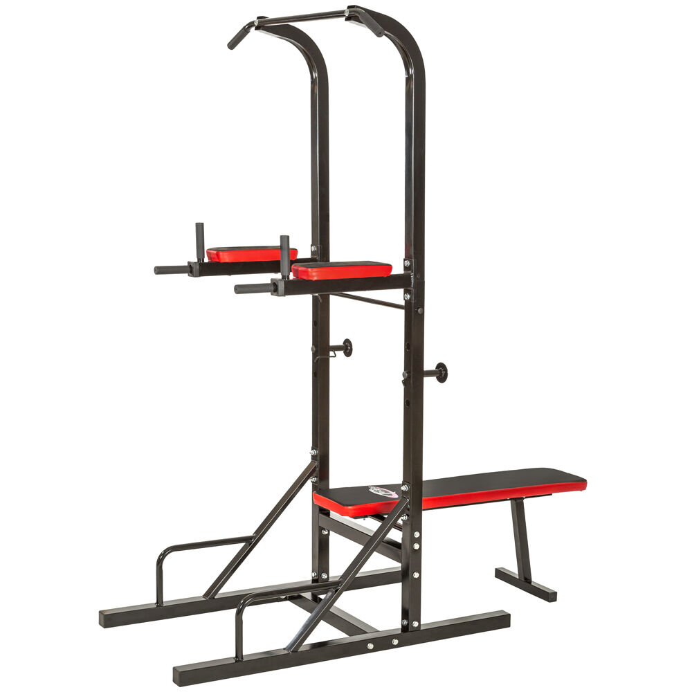 sit up pull push up bar dip power tower station ultimate ab builder home gym ebay. Black Bedroom Furniture Sets. Home Design Ideas