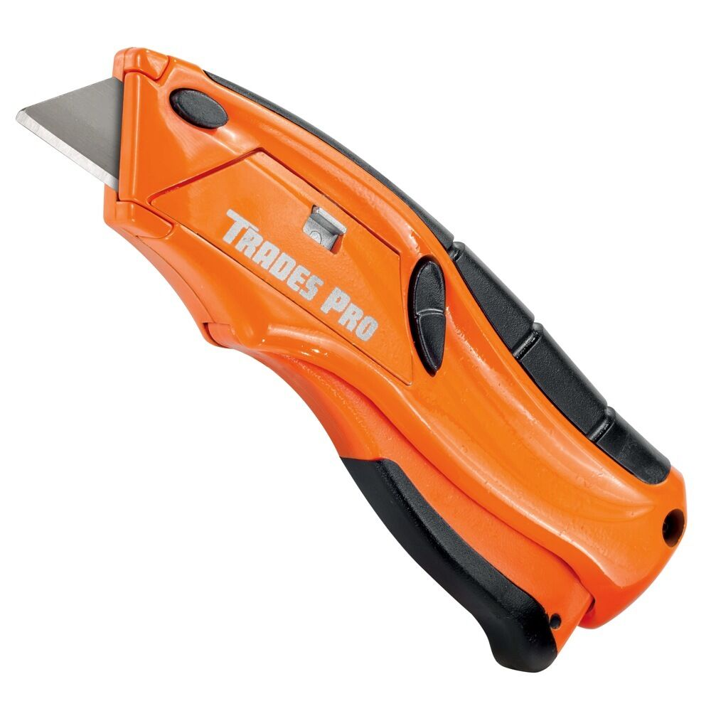 Trades Pro Quick Change Squeeze Blade Safety Utility Knife