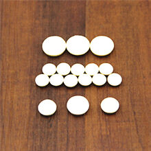 3 Pack  Woodwind Clarinet  Pads Kit  51 Pcs Hole Close Replacement Repair White