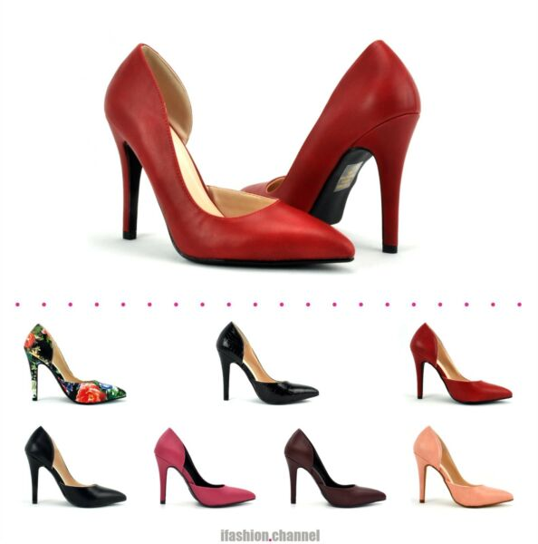 New Delicious D'Orsay Pointy Toe High Heel Leatherette Party Dress Pump Mitten