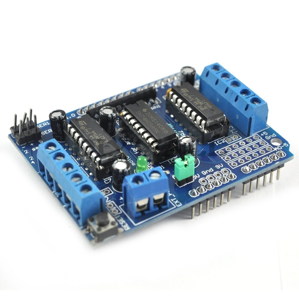 Motor drive shield expansion board l293d for arduino duemilanove mega2560 uno r3 ebay Arduino mega 2560 motor shield