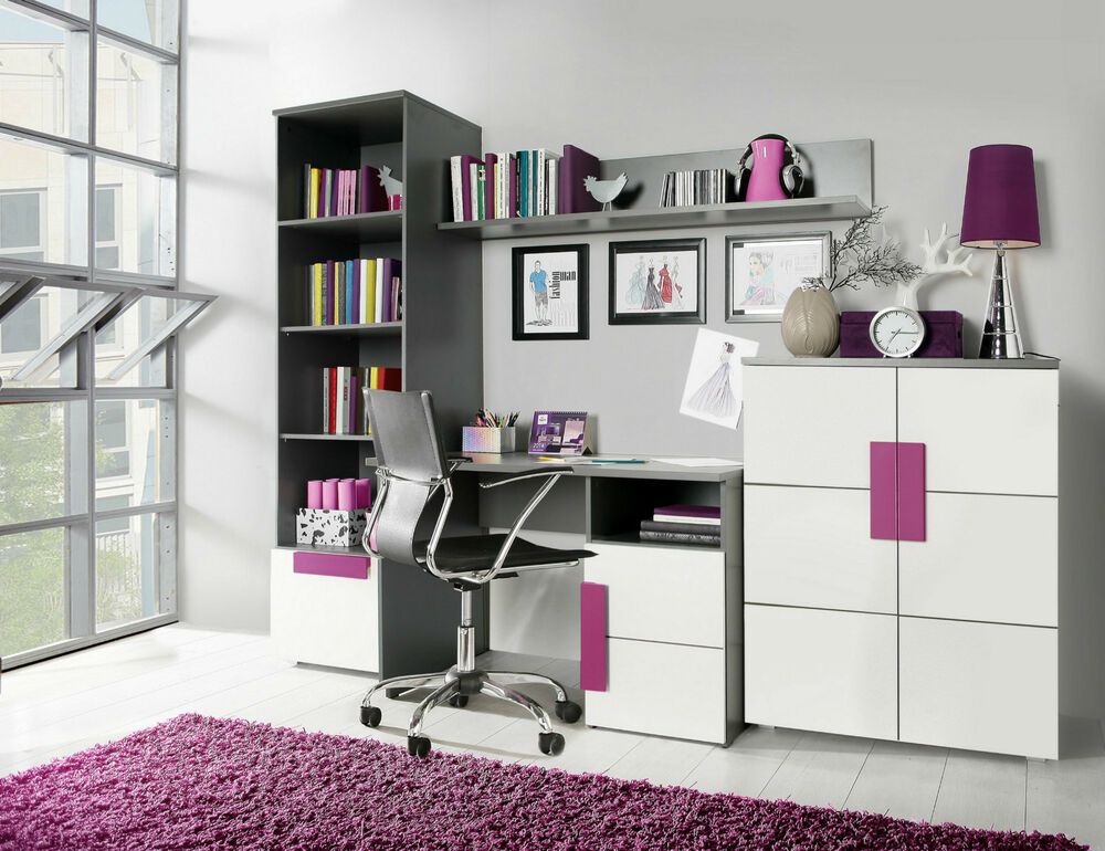 wohnwand libelle kinderzimmer jugendzimmer komplett ebay. Black Bedroom Furniture Sets. Home Design Ideas