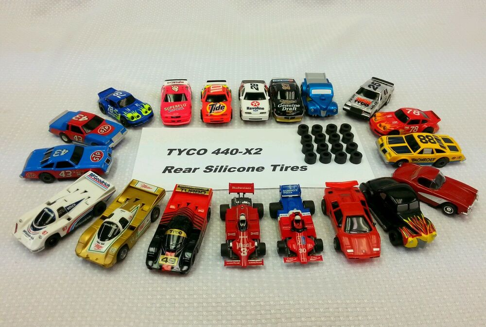 Silicone Tires For Tyco Mattel Ho Slot Car 8 Pair Lot 448