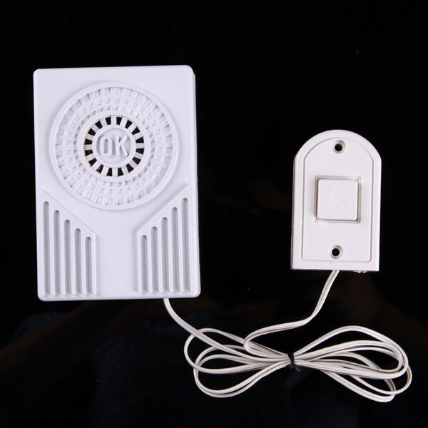 battery operate mini ok wired doorbell door bell loud ding. Black Bedroom Furniture Sets. Home Design Ideas