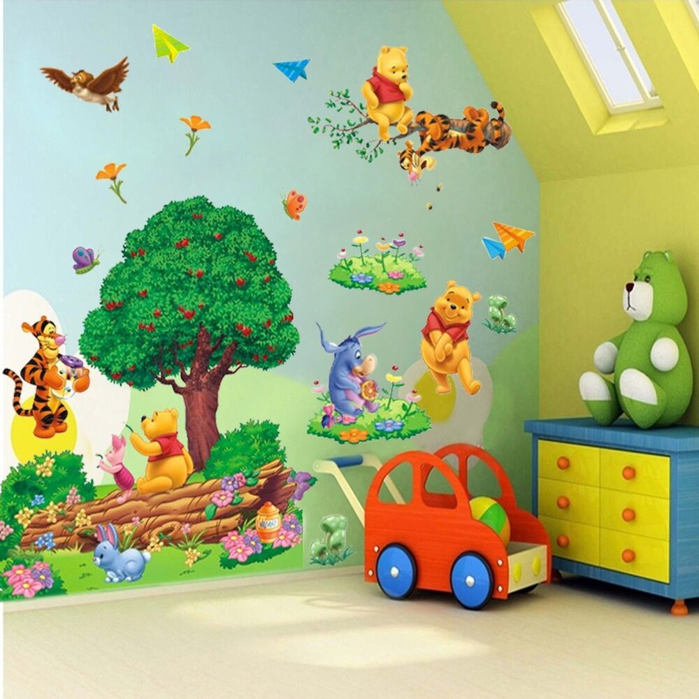 Large Winnie The Pooh Friends Wall Stickers Art Vinyl