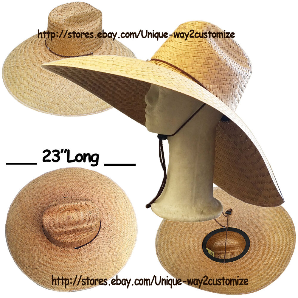 Big size straw hat with chin string for farming fishing for Fishing straw hat