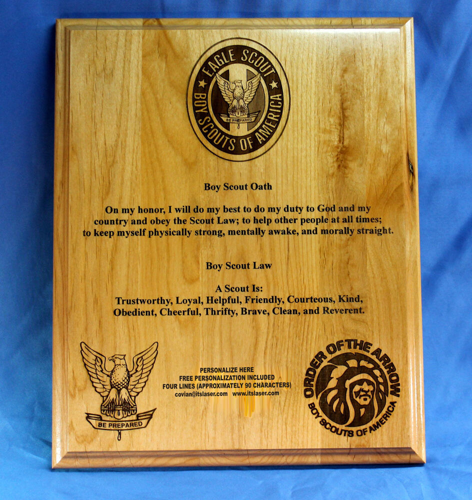 Personalized Boy Scouts of America (BSA) Oath and Law Wood ...