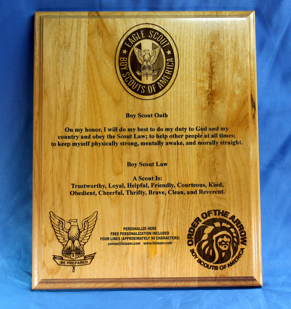 Going Away Quotes For Military Plaques: Personalized Boy Scouts Of America (BSA) Oath And Law Wood
